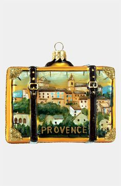 'Provence' Glass Suitcase Ornament | Nordstrom