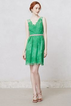 Cloverlace Dress by Yoana Baraschi // #green #dress #Anthropologie