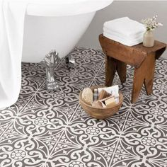 "21 Likes, 3 Comments - K Giumelli ~ Hamptons On Haven (@gmellidesign) on Instagram: ""Loving my encaustic tiles for the bathroom, very similar to these but a little more grey. Will look…"""