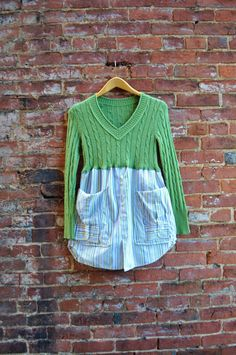 Upcycled Ann Taylor Sweater Artisan Smock in by RebirthRecycling, $65.00