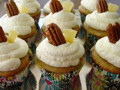 Hummingbird cupcakes with mascarpone frosting