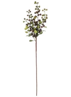 """Artificial Berry Pick in Burgundy Green 20"""" Tall"""