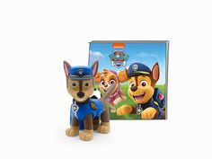 "Tonies has announced the PAWsome news that they'll be releasing a PAW Patrol Chase Tonie figure for their hit screen-free audio player the Toniebox on Monday 10th May 2021!The Toniebox allows kids as young as three to listen to audio stories based on some of their favourite TV shows simply by popping a ""Tonie"" figure on it. The soft cube has a digital core which is intuitive and easy to use: the audio starts as soon as the ""Tonie"" audio character, such as Chase are placed to thetop of the """