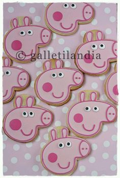 Peppa Pig iced Cookies / Biscuits: I found a similar cookie cutter from Kool Cookie Cutters in Australia. They are a great company to deal with and have a phenomenal range of cookie cutters! (171 Repins)