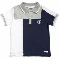 Boys Blue Cotton Polo T-Shirt
