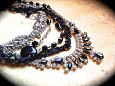 Layered vintage chunky black and white by JNPVintageJewelry, $225.00