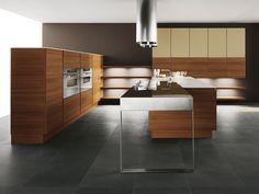 Teak kitchen with island YARA 05 by Cesar Arredamenti   design Gian Vittorio Plazzogna