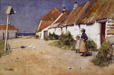 Seaside cottages with dovecot Posters & Art Prints by Edward Arthur Walton - Magnolia Box