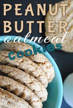 Peanut Butter Oatmeal Cookies - vegan, gluten-free, healthier recipe via @maggiesavage