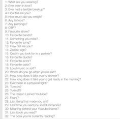 Comment a number and I'll answer!