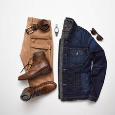 Our 4 Way Stretch JP Chino looks in this Friday look. Purchase a pair today at Nifty Genius . Fashion Mode, Look Fashion, Autumn Fashion, Mens Fashion, Fashion Photo, Fashion Trends, Rugged Style, Mode Masculine, Style Masculin