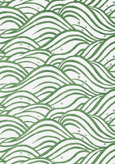 WAVES, Emerald Green, AT9874, Collection Nara from Anna French Waves Wallpaper, View Wallpaper, Anna French, Japanese Waves, Chinoiserie Chic, Japanese Architecture, Creature Comforts, Japanese Design, Watercolor Techniques