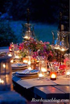 autumn dining under the stars shared at Katherines Corner