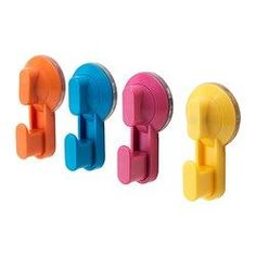 STUGVIK Hook with suction cup, assorted colors - assorted colors - IKEA
