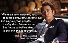 Birth of a Beauty quote: Joo Sang Wook as Han Tae-Hee (ep5)