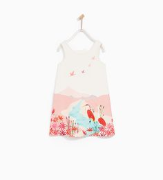 PRINTED DRESS WITH BOWS
