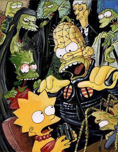 Hellraiser Meets the Simpsons #horror #art