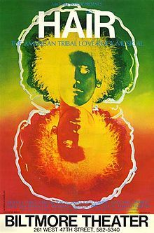 Hair opened on Broadway at the Biltmore Theatre on April 29, 1968