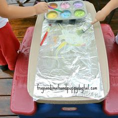 Foil Painting: Sensory Art