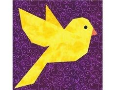Bluebird of Happiness paper piecing quilt block pattern PDF. $2.95, via Etsy.
