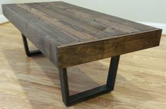 Reclaimed Wood Coffee Table by ModernRustiqueDesign on Etsy