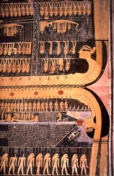Two halves of the goddess Nut on the ceiling of the tomb of Ramses VI, Luxor, Egypt « Nadler Photography Portfolio: Cultural & Travel Photographs