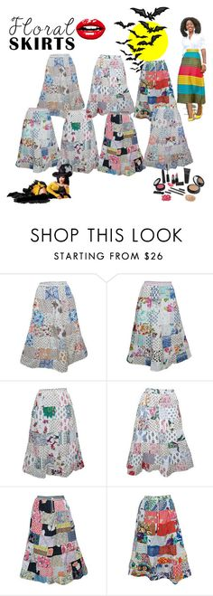 """""""Boho Vintage Patchwork Maxi Skirts"""" by india-trendzs ❤ liked on Polyvore featuring vintage"""