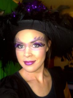 Purple Witch Makeup  # halloween makeup # witch # purple