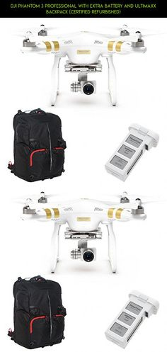DJI Phantom 3 Professional with Extra Battery and Ultimaxx Backpack (Certified Refurbished) #plans #shopping #kit #parts #fpv #dji #technology #camera #racing #refurbished #professional #3 #drone #gadgets #phantom #products #tech