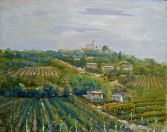 "Felice Hrovat ""Wine Country"" 11x14 Oil on Canvas"
