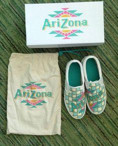 Arizona drink slip on shoes.