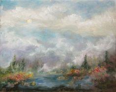 Painting landscape Lake Original Original by MarinaPetroFineArt https://www.etsy.com/listing/483484245/painting-landscape-lake-original?ref=shop_home_active_1