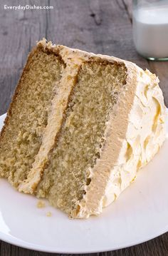 Don't reach for that box of cake mix when it's so easy to make a yellow buttermilk cake using instant pudding.