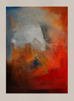 Huge Original Abstract Textured Painting by by JagodaModernArt, $458.00
