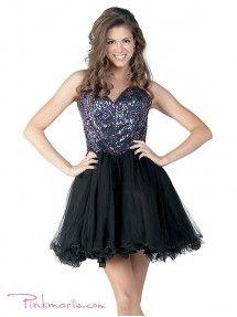 Black Gorgeous Strapless Sweetheart Short Dress