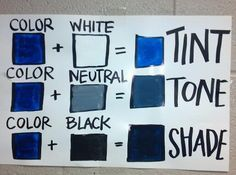 tints and shades worksheet - Google Search