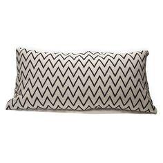 Zigzag cushion cover 30x60 cm - white - Ørskov
