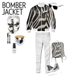 """Winter Style: Bomber Jackets Zebra"" by erikakaisersot ❤ liked on Polyvore featuring Abercrombie & Fitch, Zipz, Isaac Mizrahi, OPI, Sisley Paris and bomberjackets"