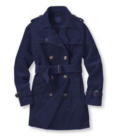 Corduroy Belted Trench: Jackets and Coats | Free Shipping, size medium either navy or green