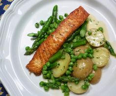 For Love of the Table: Pan Seared Salmon with Asparagus & Peas