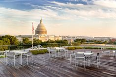 2. The Observatory at America's Square: In June, Jamestown LP debuted its new rooftop event space, the Observatory at America's Square. The 1,758-square-foot rooftop offers prime views of the U.S. Capitol building and the D.C. skyline. The space holds 240 guests for receptions or seats 120 guests.
