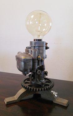 Carburetor Lamp Steampunk Dieselpunk Machine Age by Argus88