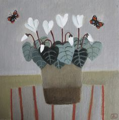 Cyclamen and Butterflies Easy To Grow Houseplants, Plants Delivered, Snake Plant, Human Mind, Paintings I Love, House And Home Magazine, Carnations, Artist At Work, Still Life
