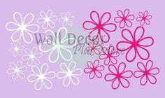 White & Hot Pink Daisy Wall Stickers 16 Vinyl Decals for Home Decor - http://decorwalldecals.com/white-hot-pink-daisy-wall-stickers-16-vinyl-decals-for-home-decor/