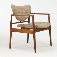 Finn Juhl, #48 Teak Chair for Soren Horn, 1948.