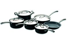 BergHOFF Earthchef Montane 11-Piece Non-Stick Cookware Set, Black *** Special  product just for you. See it now! : Cookware Sets