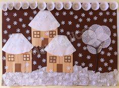 ekoDziecko.com: gazeta Kids Crafts, Winter Crafts For Kids, Diy And Crafts, Arts And Crafts, Painting For Kids, Art For Kids, Christmas Art, Christmas Decorations, Winter Art Projects
