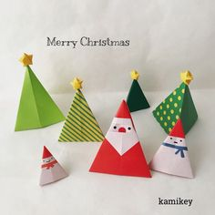image Paper Crafts Origami, Origami Easy, Christmas Makes, Merry Christmas, Diy And Crafts, Crafts For Kids, Christmas Origami, Holiday Crafts, Paper Art