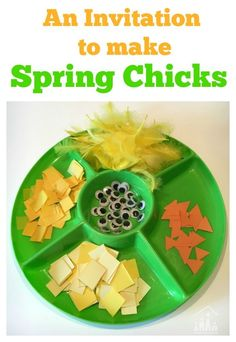 Invite your children to make Spring Chicks from TP Rolls over the Spring Break.