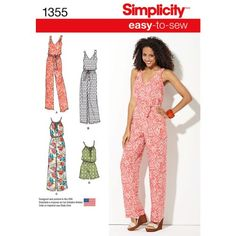 Simplicity Sewing Pattern 1355 Misses' Maxi Dress  Long or Short Jumpsuit A(XXS-XXL) Simplicity Patterns http://www.amazon.com/dp/B00K9A0D9O/ref=cm_sw_r_pi_dp_HP-Otb09PJJ1CSA5